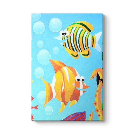 Renkli Balıklar Tablo