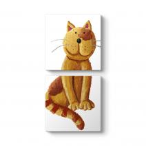 Şirin Kahverengi Kedi Tablosu