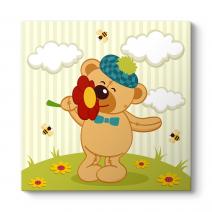 Çiçek ve Ayıcık Tablosu