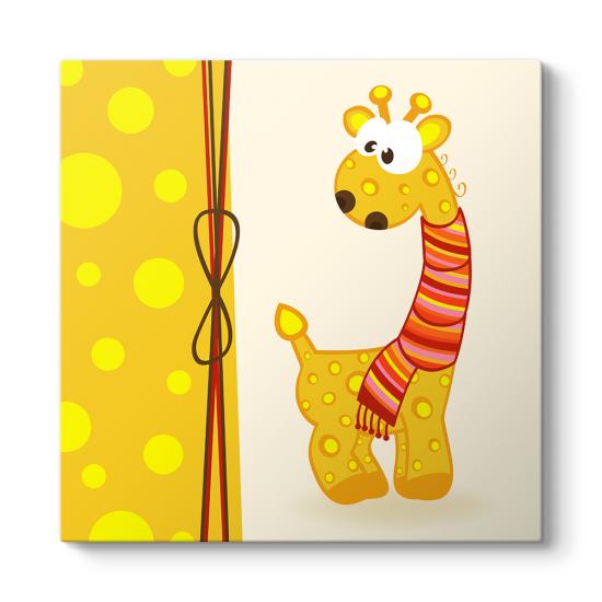 Düşünceli Zürafa Tablosu
