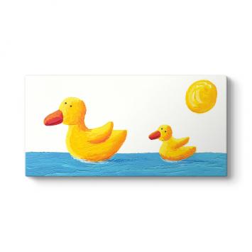 Sarı Ördekler Tablosu