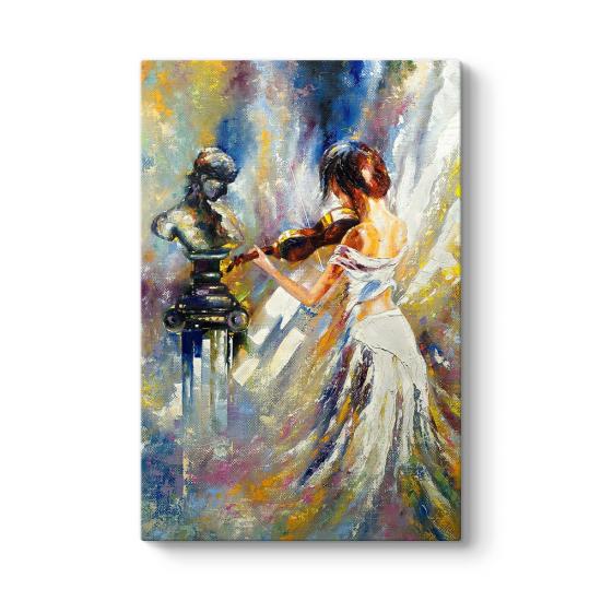 Girl Playing Violin Tablo