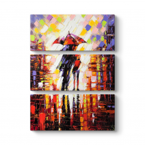 Colorful Umbrellas Tablo