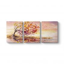 Ağaç ve Rüzgar Panorama Tablo