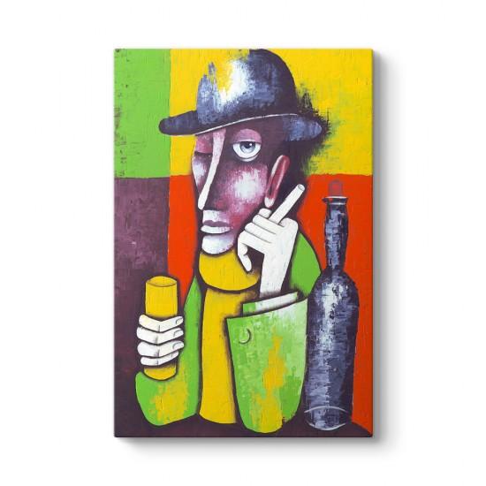 Adam ve Şarap Tablosu