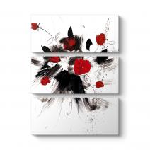 Dekoratif Soyut Güller Tablo