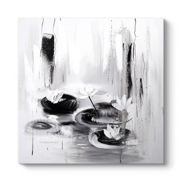 Siyah Beyaz Dekoratif Tablo