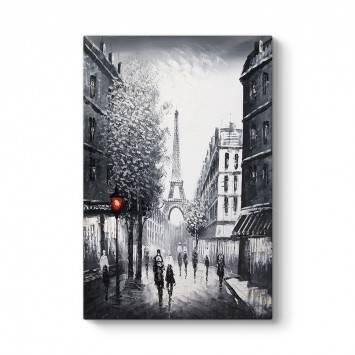 Siyah Beyaz Paris Kule Tablo
