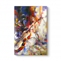Girl Playing Violin I Tablo