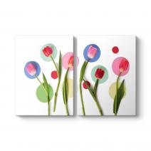 Modern Floral Tablo