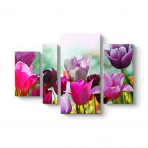 Renkli Çiçekler Tablosu