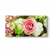 Çiçek Buketi Panorama Tablo