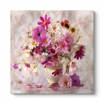 Eski Çiçek Vazo Tablosu