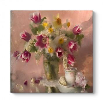 Eski Çiçek Vazo I Tablosu