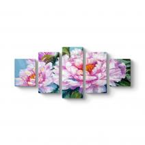 Sanatsal Pembe Çiçekler Tablosu