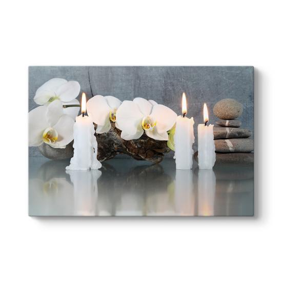Mum Taşlar Orkide Tablosu