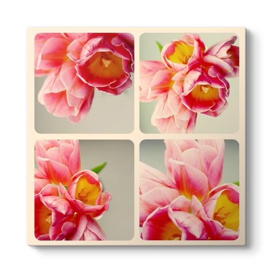 Kolaj Çiçek Tablosu