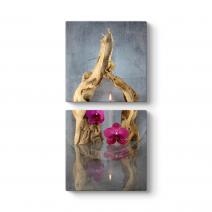 Naturel Mum Orkide Tablosu