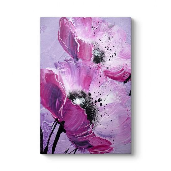 Mor Çiçek Tablosu