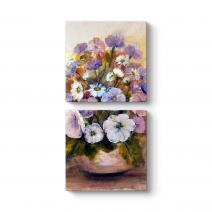 Dekoratif Floral Tablo
