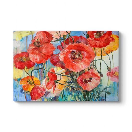 Sanatsal Gelincik Çiçeği Tablosu