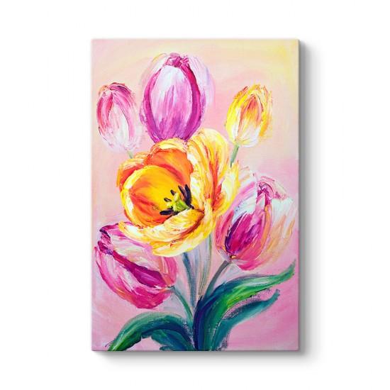 Yağlı Boya Floral Tablo