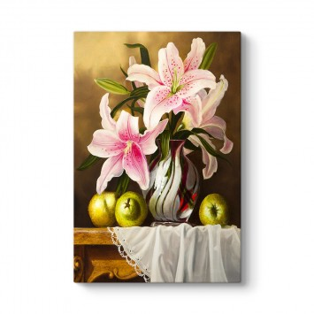 Natürmort Çiçek Tablosu