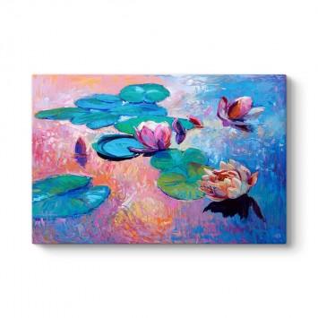 Suluboya Nilüfer Çiçeği Tablosu