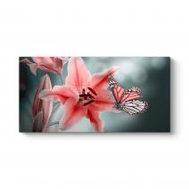 Çiçek ve Kelebekler Tablosu