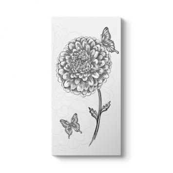 Kelebek ve Çiçek Çizim Tablosu