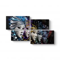 Venedik Soyut Maske Tablosu