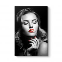 Sigara İçen Kadın Tablosu