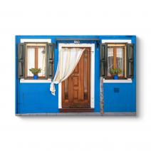 Burano Adası Evleri Tablosu
