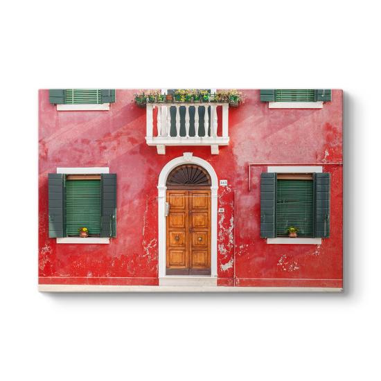 Burano Kırmızı Ev Tablosu