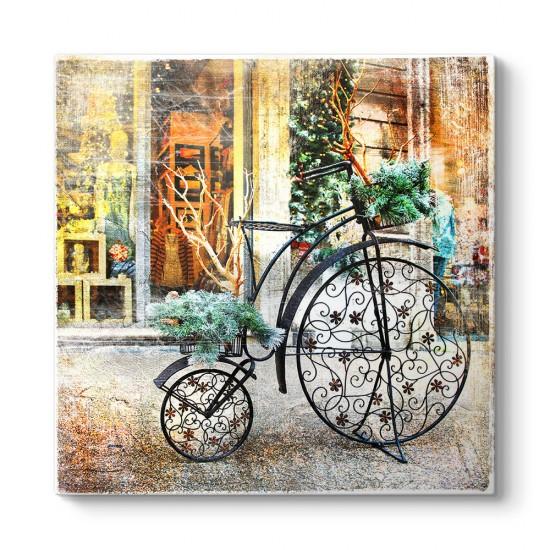Ferforje Saksı Bisiklet Tablosu