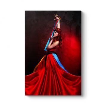 Kırmızı Elbise Tablosu