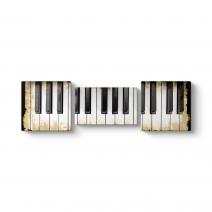 Piyano Tuşları Panorama Tablo