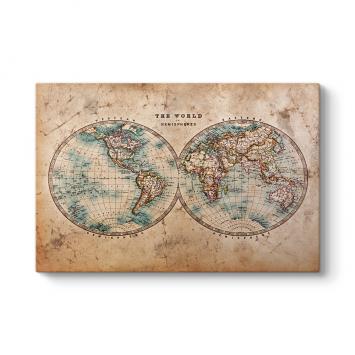 Dünya Haritası Eski Tablosu