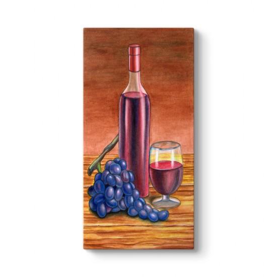 Şarap - Üzüm - Kadeh Tablosu