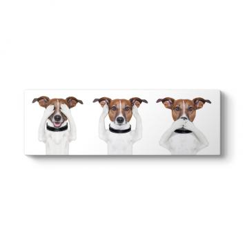 Şirin Köpekler Panorama Tablo
