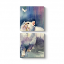 Kedi ve Kelebek Tablosu