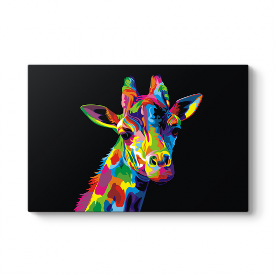 Colorful Giraffe Tablosu
