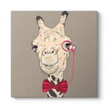 Zürafa Popart Tablosu