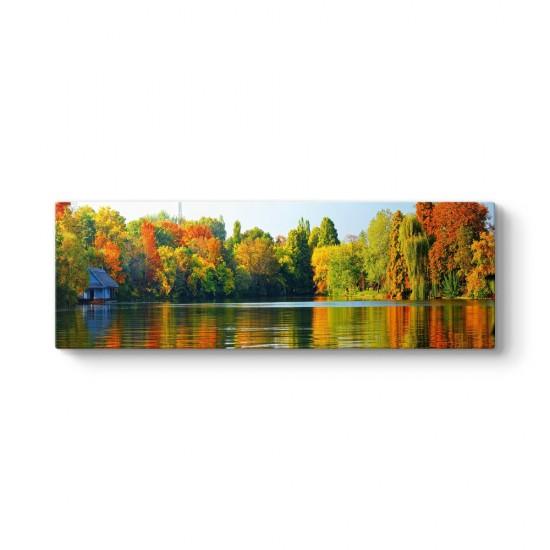Renkli Ağaçlar ve Göl Tablosu