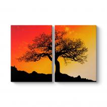 Ağaç Silüeti Tablosu