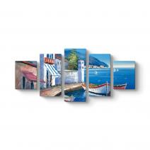 Deniz Manzarası Soyut Tablo