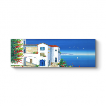 Santorini Deniz Manzara Tablosu