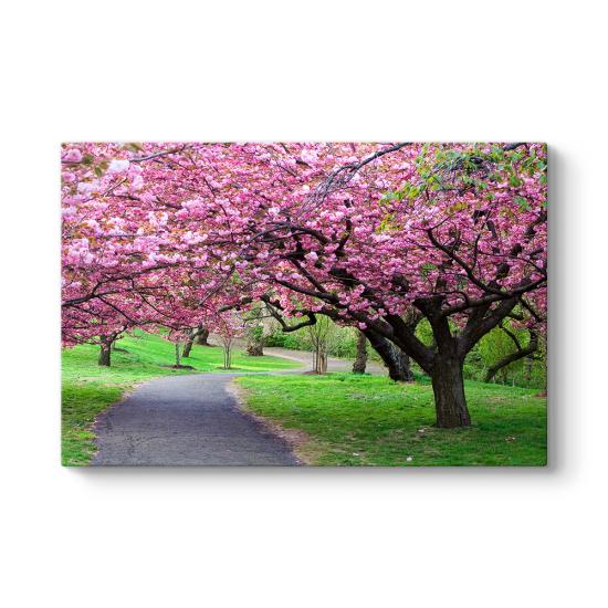 Lila Çiçekli Ağaç Tablosu