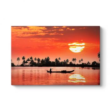 Palmiye ve Deniz Tablosu