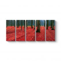 Dökülen Kırmızı Yapraklar Tablosu